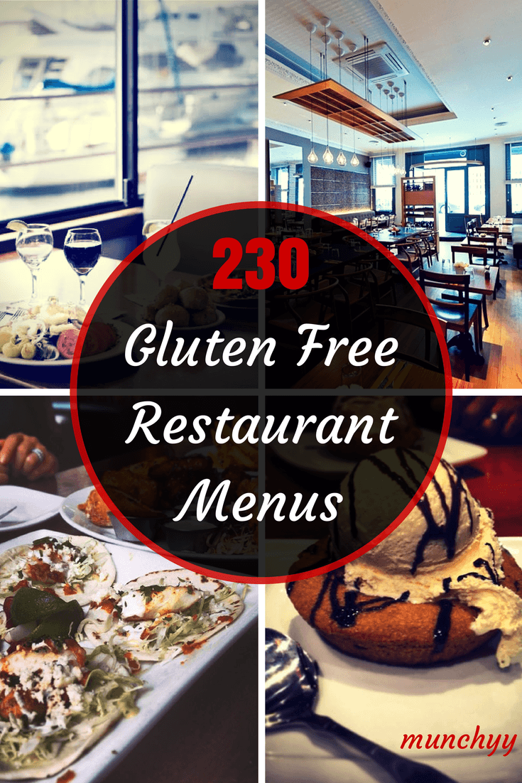 240 gluten free restaurant menus you must check out in 2018 for Restaurant guide