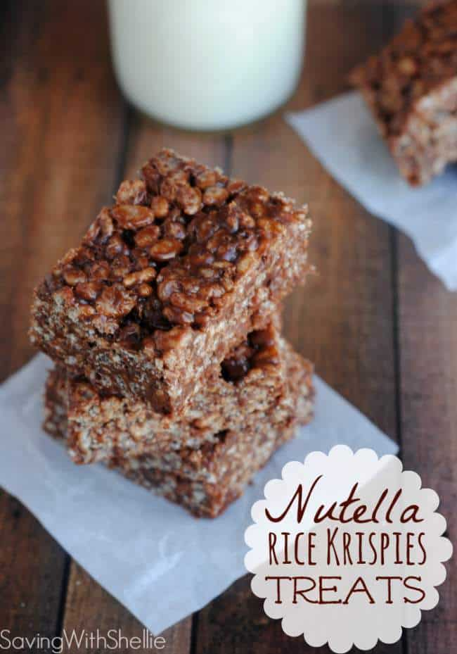 gluten free nutella rice krispies treats