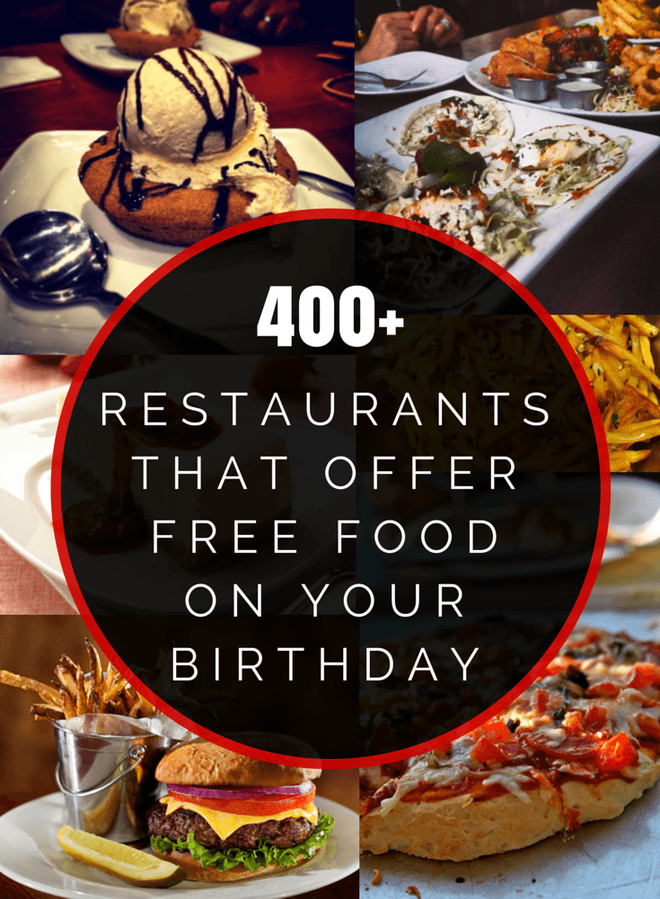 free birthday treats at restaurants
