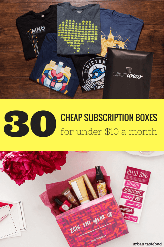 Best Cheap Subscription Boxes